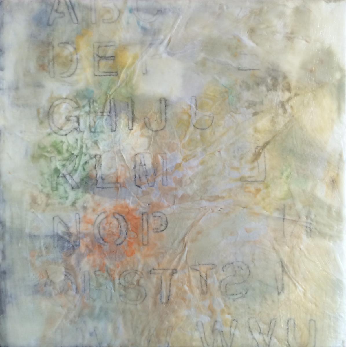 letters language encaustic wax